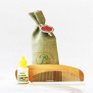 Арома набор для жирных волос (расчёска+ масло)