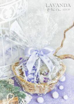 Подарочная корзинка малая Лавандовая
